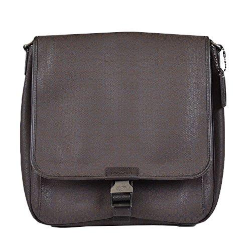 Coach Men's Signature File Laptop Messanger Bag 70765 Mahagany Gunmetal