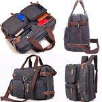 Clean Vintage Hybrid Backpack Messenger Bag | Convertible Laptop Messenger Backpack- Rucksack BookBag Daypack- WAXED Canvas