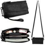 BIG SALE- 40% OFF- YALUXE Women's Leather Smartphone Wristlet Crossbody Clutch with RFID Blocking Card Slots