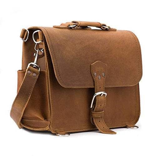 Saddleback Leather Satchel - 100% Full Grain Leather Satchel Bag for Men or Women.