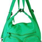 Convertible Purse - Both Backpack and Shoulder Bag in Soft Vegan Leather (Aqua)
