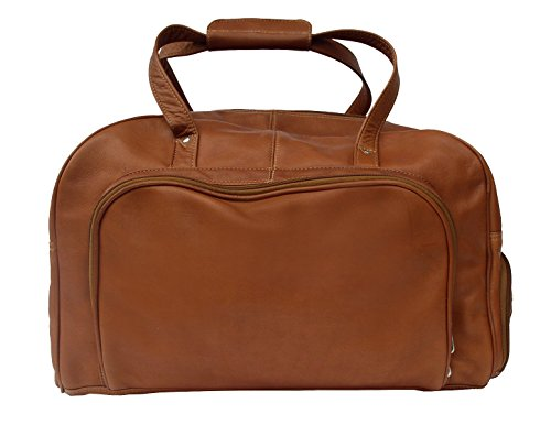 Piel Leather Traveler Deluxe Carry-On Duffel Bag in Saddle