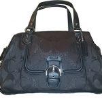 Coach Signature Campbell Metallic Large Satchel Bag