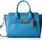 COACH Women's Pebbled Leather Coach Swagger 27 SV/Azure Satchel