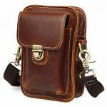 Mens Retro Brown Leather Casual Satchel Crossbody Shoulder Bag Fanny Bag