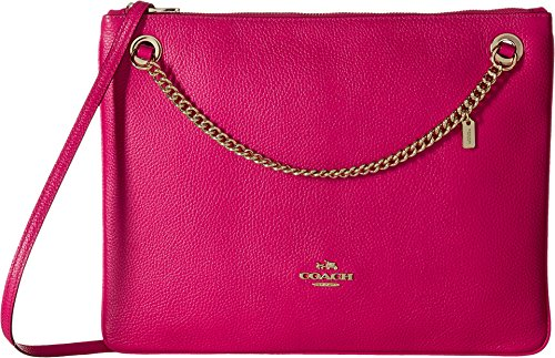 COACH Womens Polished Pebble Leather Convertible Crossbody