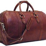 Floto Roma Cabin Bag, Leather Duffel Bag in Brown
