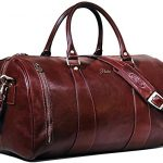 Floto Collection Leather Duffel Bag in Brown