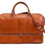 Venezia Traveler Leather Drop Bottom Duffle Bag