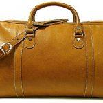 Floto Parma Edition Leather Parma Duffle in Cognac