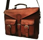 B & H Genuine Leather Messenger Bag 15″ Leather Laptop Bag Leather Satchel Briefcase Bag.