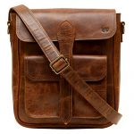 Enew Handmade Women Vintage Style Genuine Brown Leather Cross Body Shoulder Bag Handmade Purse Shoulder Sling Bag