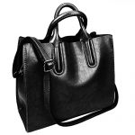 Fantastic Zone Oil Wax Leather Women Top Handle Satchel Handbags Shoulder Bag Purse Messenger Tote Bag