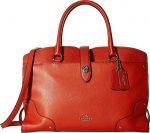COACH Women's Grain Leather Mercer Satchel Carmine Handbag