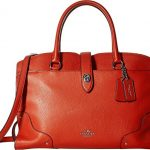 COACH Women's Grain Leather Mercer Satchel Carmine Handbag
