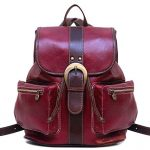 Floto Positano Backpack in Red and Brown Full Grain Calfskin Leather