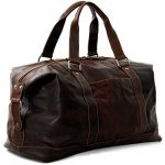 Jack Georges Voyager Leather Duffel Bag, Travel Bag in Brown