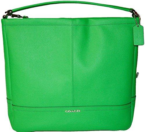 Coach Park Leather Hobo Shoulder Bag Green