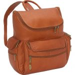 David King Leather Large Computer Backpack in Tan