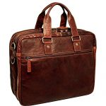 Jack Georges Voyager Triple Gusset Top Zip Business Travel Briefcase (Brown)