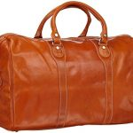 Floto Milano Duffle Bag, Leather Carry on in Orange