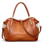 BIG SALE-AINIMOER Womens Leather Vintage Shoulder Bag Ladies Handbags Large Tote Top-handle Purse Cross Body Bags