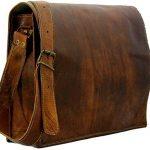 HandMadeCart Genuine Leather Messenger Shoulder Laptop Satchel Vintage Leather Bag