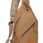 Aidonger Unisex Canvas Chest Bag Messenger Bag Sling Bag