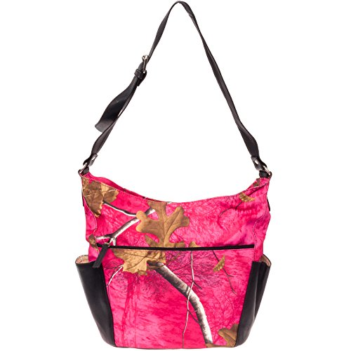 RealTree Conceal Carry Shoulder Bag - CCW Gun Pistol Purse by Silver Lilly Pink