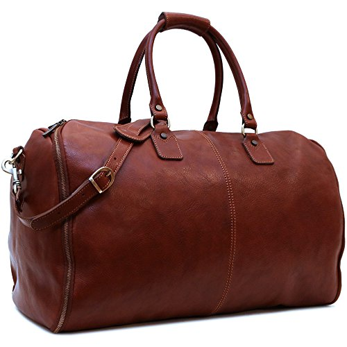 Convertible Full Grain Leather Garment Duffle Bag - Floto Roma