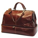 Floto Positano Grande, Leather Duffel bag in Brown