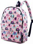 Lightweight Canvas Backpack for Women, Teens and Kids (Elephant Pink Medium)