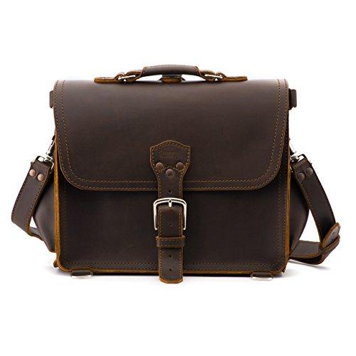 Saddleback Leather Satchel - 100% Full Grain Leather Satchel Bag for Men or Women.