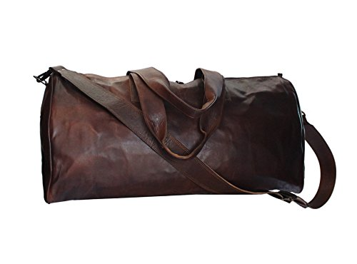 Lust Leather Drawstring Travel Overnight Weekend Leather Bag Sports Cabin