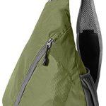 WATERFLY Packable Shoulder Backpack Sling Chest Sport Hiking Bag Cover Bicycle Messenger Cross Body Bag Rucksack (Olive)
