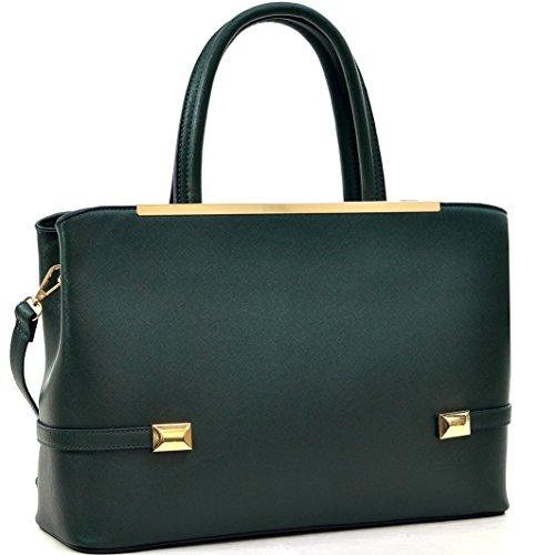 94a914aa47d2 Dasein Frame Tote Top Handle Handbag Faux Leather Briefcase Designer  Satchel Handbag ipad Bag Tablet Bag