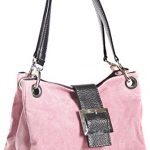 Big Handbag Shop Women's Big Handbag Shop Real Italian Suede Leather Handbag