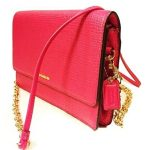 Coach Madison Embossed Pink Ruby Leather Cross-Body Bag