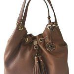 Michael Kors Camden Large Drawstring Shoulder Leather Bag Acorn Brown