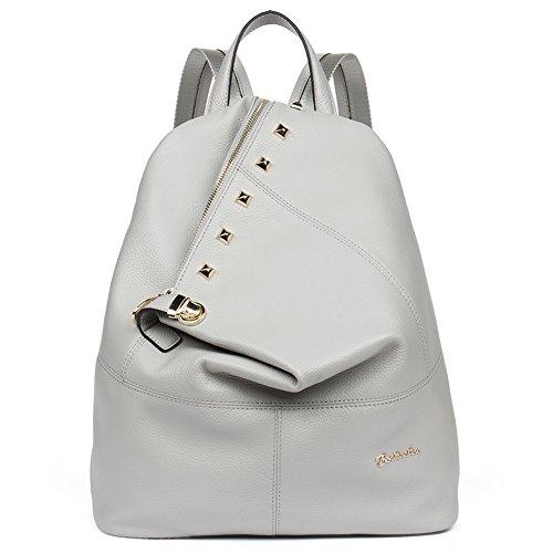 ce2de8a394b BOSTANTEN Leather Backpack Purse Satchel Shoulder Casual Daypack ...