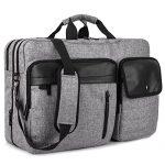 DTBG Nylon Versatile Convertile Spacious Business Casual Travel Laptop Menssenger Briefcase Computer Shoulder Hiking Bag Backpack Daypack For 15.6 - 17.3 Inch Laptop / Notebook/MacBook/Tablet,Grey