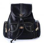 FYY 100% Handmade Premium Leather Casual Backpacks Shoulder Bag Travel Bag