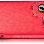 Fossil Emma Rfid Large Zip Wallet-Neon Coral