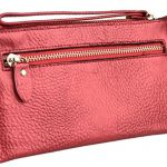 YALUXE Women's Simple Practical Leather Wristlet Wallet Smartphone Clutch with Coin Pocket