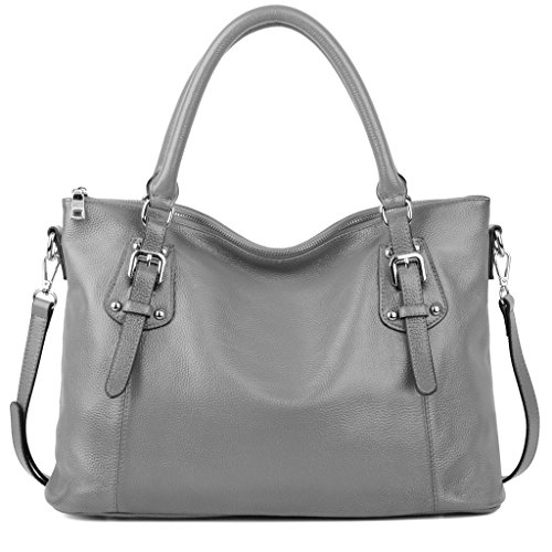 1061b3df1d02 YALUXE Women s Vintage Style Soft Leather Work Tote Large Shoulder Bag  (Upgraded 2.0)