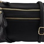 Amy&Joey soft faux leather multi pockets multi functional crossbody bag with wristlet strap