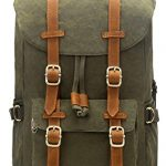 """EverVanz Laptop Outdoor Canvas Backpack, Travel Hiking& Camping Rucksack Pack, Casual Large College School Daypack, Shoulder Bags Backpack Fits 15"""" Laptop & Tablets"""