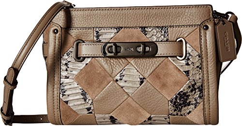 COACH Swagger Wristlet Crossbody Clutch in Patchwork Exotic Embossed Leather 65140