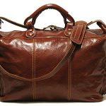 Floto Venezia Leather Travel Tote, Duffel Bag in Vecchio Brown