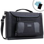 USA Gear Laptop Bag Case for Huawei Matebook X - Carrying Bag with Shoulder Strap for 13 inch Notebooks - Weather Resistant Base , Accessory Storage , & Customizable Interior